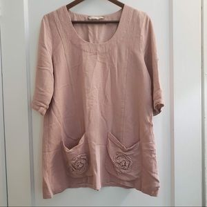 Soft Surroundings Pink Tunic